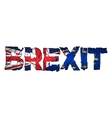 Brexit Text Isolated Brexit cracks Text Isolated vector image vector image