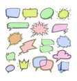 bubbles blank speech bubbling messages vector image
