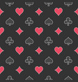 card suits dark pattern vector image