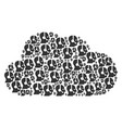 cloud figure of operator icons vector image