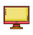 color computer screen electronic technology vector image