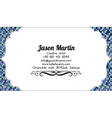 colorful abstract business card vector image vector image