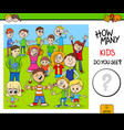counting children characters educational game for vector image vector image