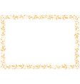 decorative frame of orange leaves and dots vector image vector image
