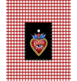 design pocket with traditional mexican hearts vector image