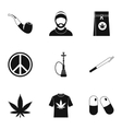 Drug icons set simple style vector image vector image