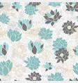 elegant modern waterlilies or lotus flowers on vector image vector image