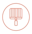 Empty barbecue grill grate line icon vector image vector image
