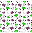 Fashion Seamless Comic Style Background vector image vector image