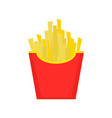 fast food french fries tasty street food vector image vector image