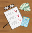 financial planning and counting vector image vector image