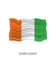flag ivory coast vector image