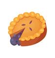 fruit dessert pie icon in cartoon style vector image vector image