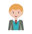 half body blond man with formal suit and business vector image