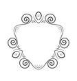 hand drawn frame element vector image vector image