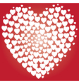heart white vector image vector image
