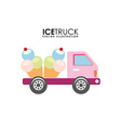 ice truck vector image vector image