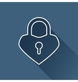 Lock heart icon Eps10 vector image