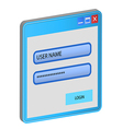 Login and password concept for connect to web user vector image vector image