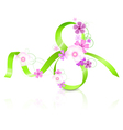 March 8 with flowers vector image