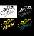 minimalistic logo bicycle racing abstract using vector image vector image
