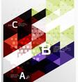 minimalistic triangle design vector image vector image