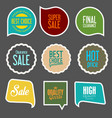 modern sale stickers collection 4 vector image vector image