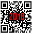 modern technologies 2018 written inside a qr code vector image