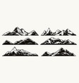 mountains vintage monochrome collection vector image vector image