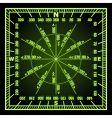 navigation grid vector image vector image