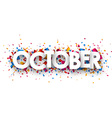 October sign vector image