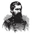 oliver otis howard during the civil war vintage vector image vector image