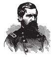 oliver otis howard during the civil war vintage vector image vector image
