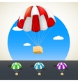 Parachute with sending vector image