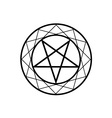 Pentacle vector image vector image
