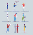 people professional and occupational diversity vector image vector image