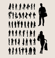 People Standing Silhouettes vector image vector image