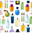 perfume bottles pattern or background vector image vector image