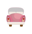 pink car icon vector image