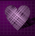 pink volumetric heart from lines vector image vector image