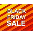 Red striped sale poster with BLACK FRIDAY SALE vector image vector image