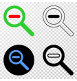 reduce scale eps icon with contour version vector image
