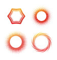 round colorful shape banner icon set vector image