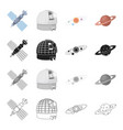 satellite study science and other web icon in vector image vector image