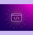 Seo script line icon web programming sign