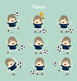 set character actions france national football vector image vector image
