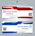 set of abstract template technology web banner vector image vector image