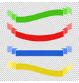 set of colored flat insulated long ribbons vector image vector image