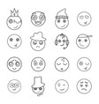 set of emoji icons vector image