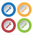 set of four icons - spanner vector image vector image